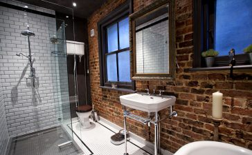 De moderne nostalgische badkamer